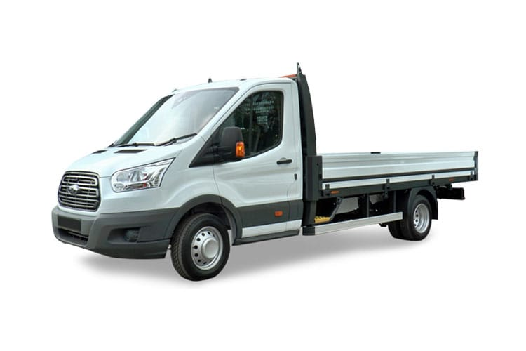 Ford Transit 350 L3 2.0 EcoBlue FWD 170PS Leader Premium Dropside Manual [Start Stop] front view